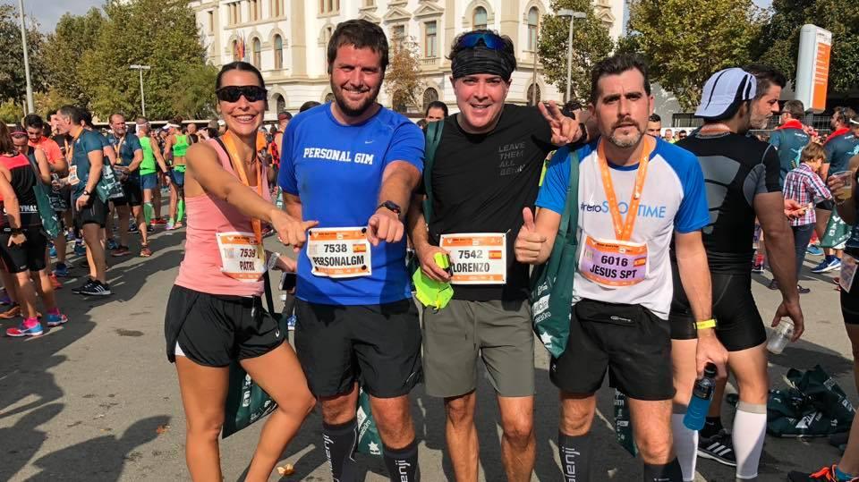 Grupo de running en Valencia