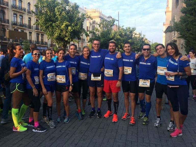 Club running Valencia Centro personal gim pequeña. Club de runners Valencia